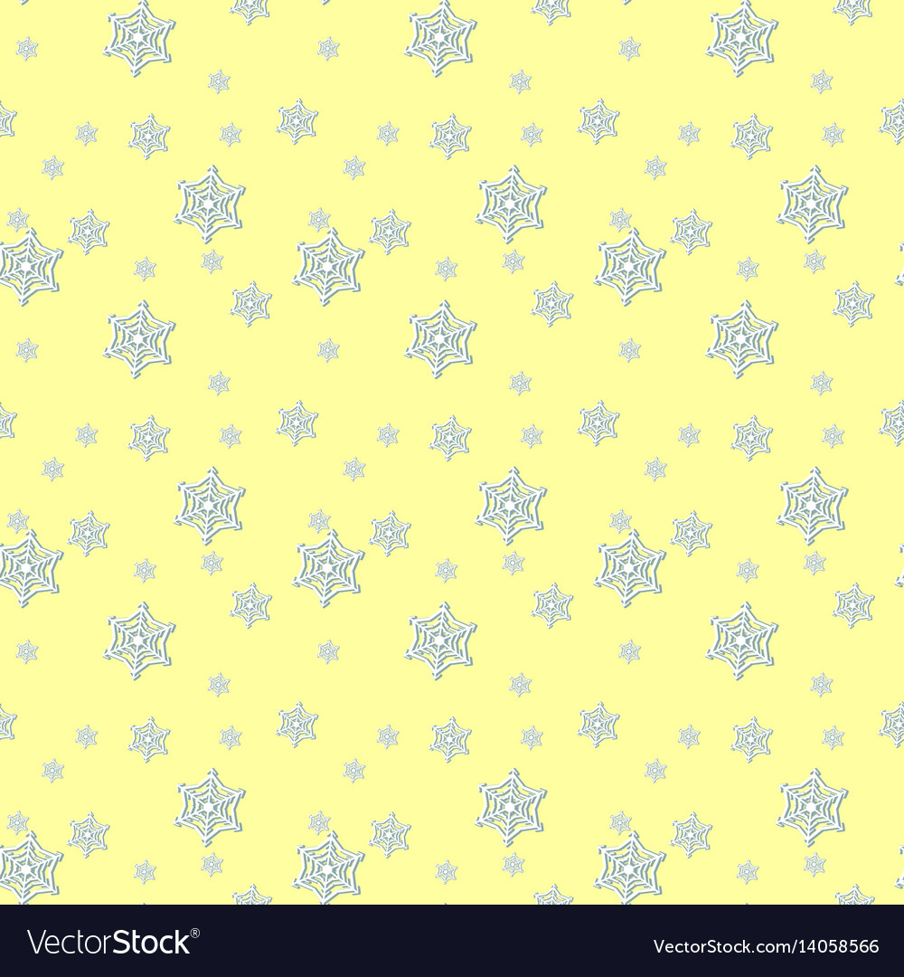 Seamless blue pattern with snowflakes vector image