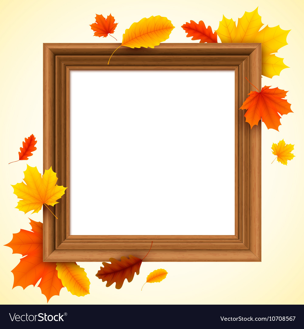Autumn Picture Frame vector image