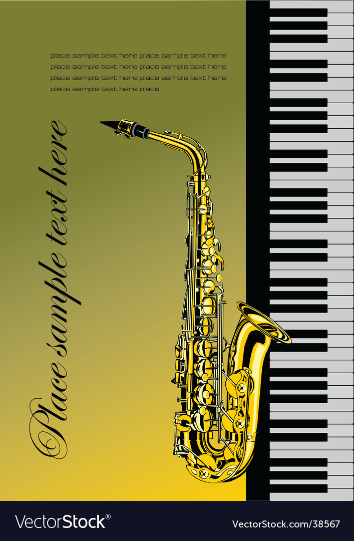 Piano with saxophone vector image