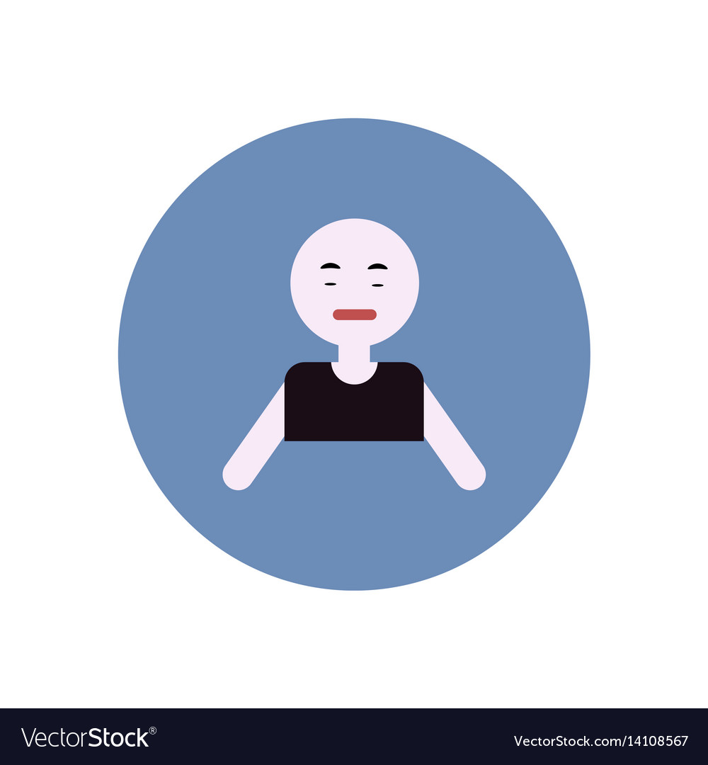 Stylish icon in color circle pale man
