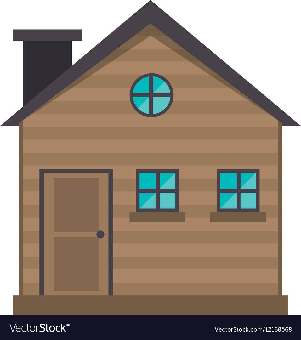 Cottage wooden chimney exterior vector image