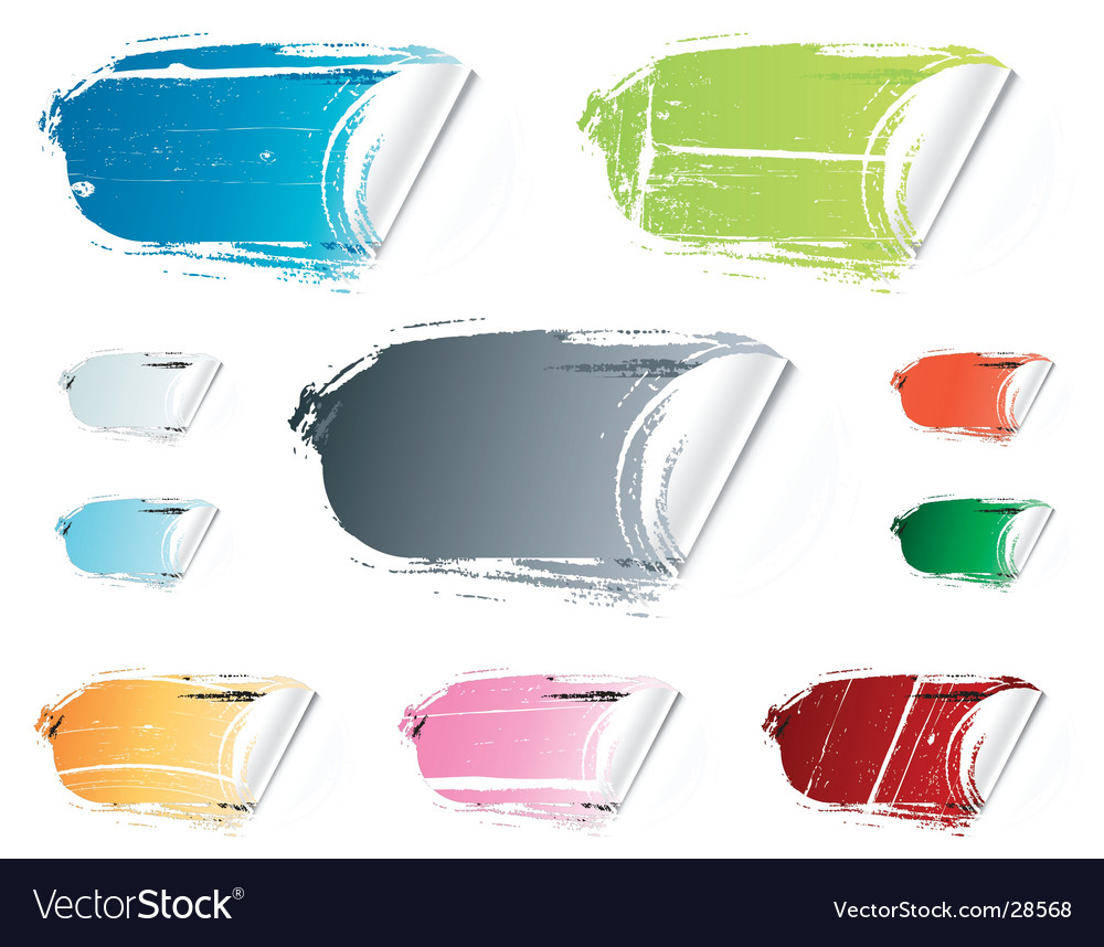 Grunge peeling retail stickers vector image
