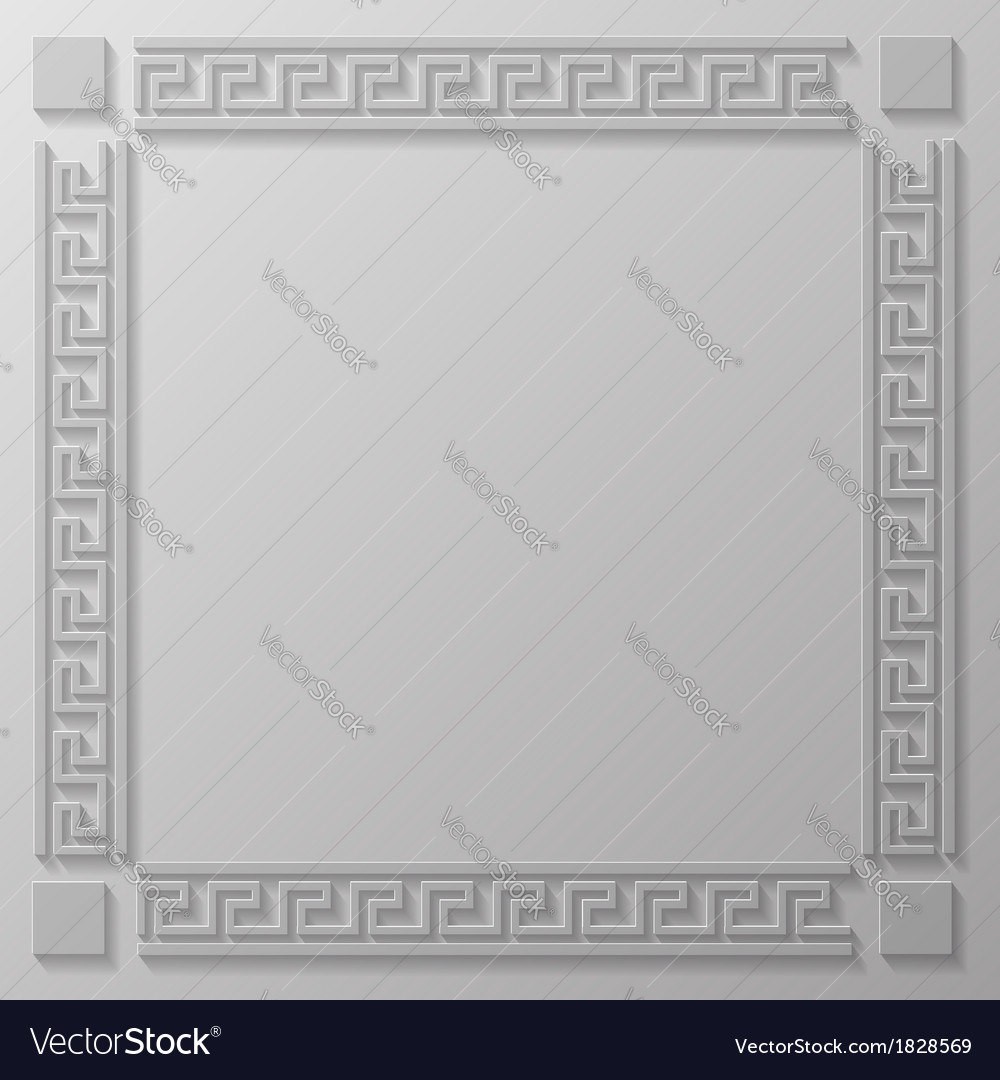 Greek frame royalty free vector image vectorstock greek frame vector image jeuxipadfo Gallery