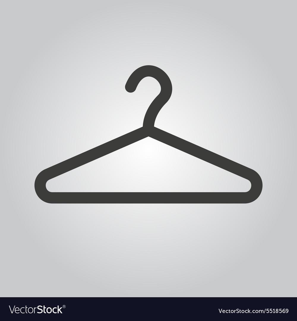 The hanger icon coat rack symbol flat royalty free vector the hanger icon coat rack symbol flat vector image biocorpaavc