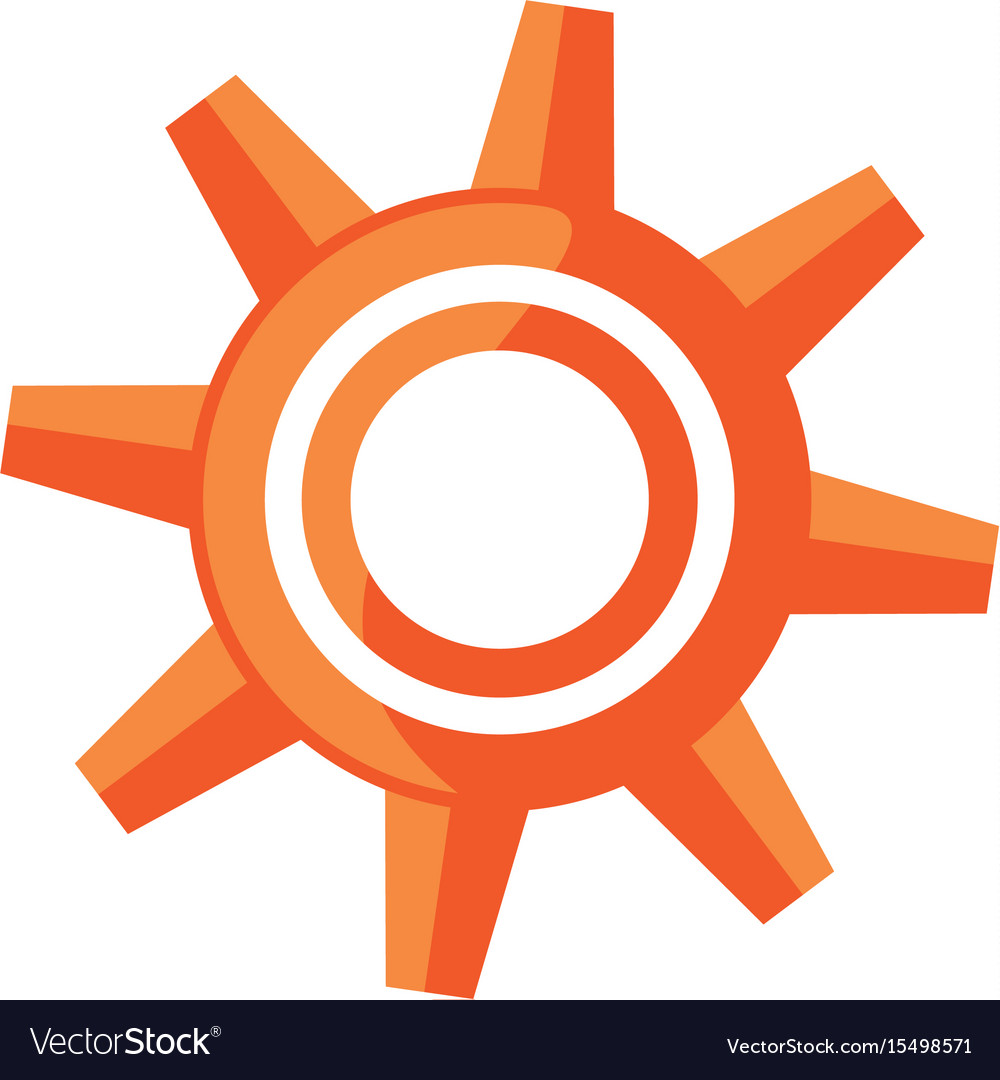 Gear machinery isolated vector image