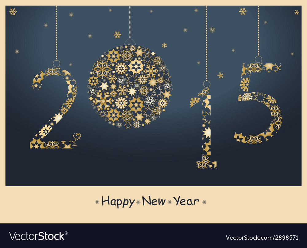 New Year 2015 Greeting Card Royalty Free Vector Image