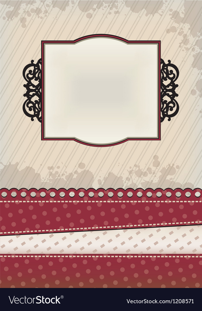 Strict red background vector image