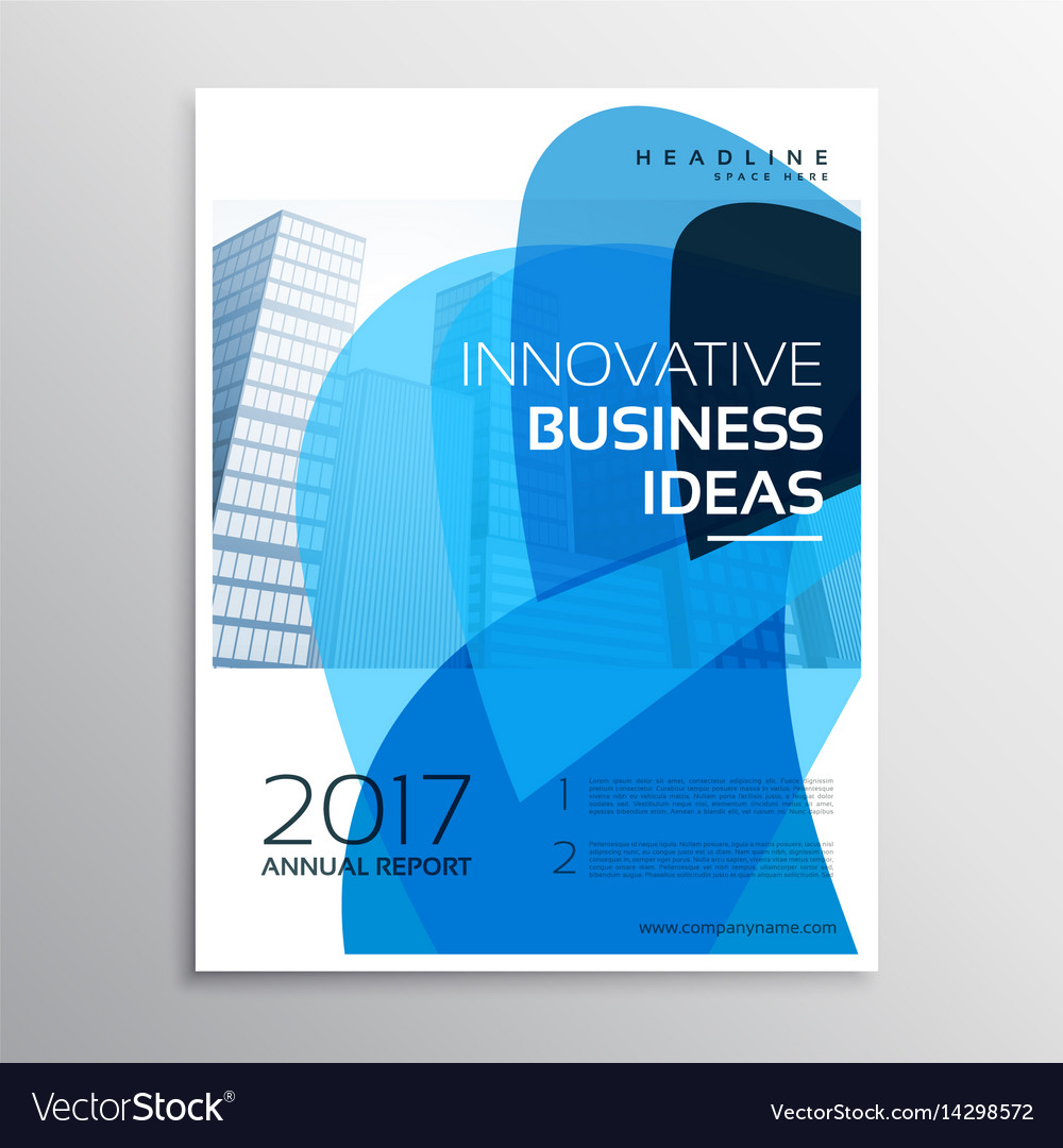 Creative business leaflet or brochure template Vector Image