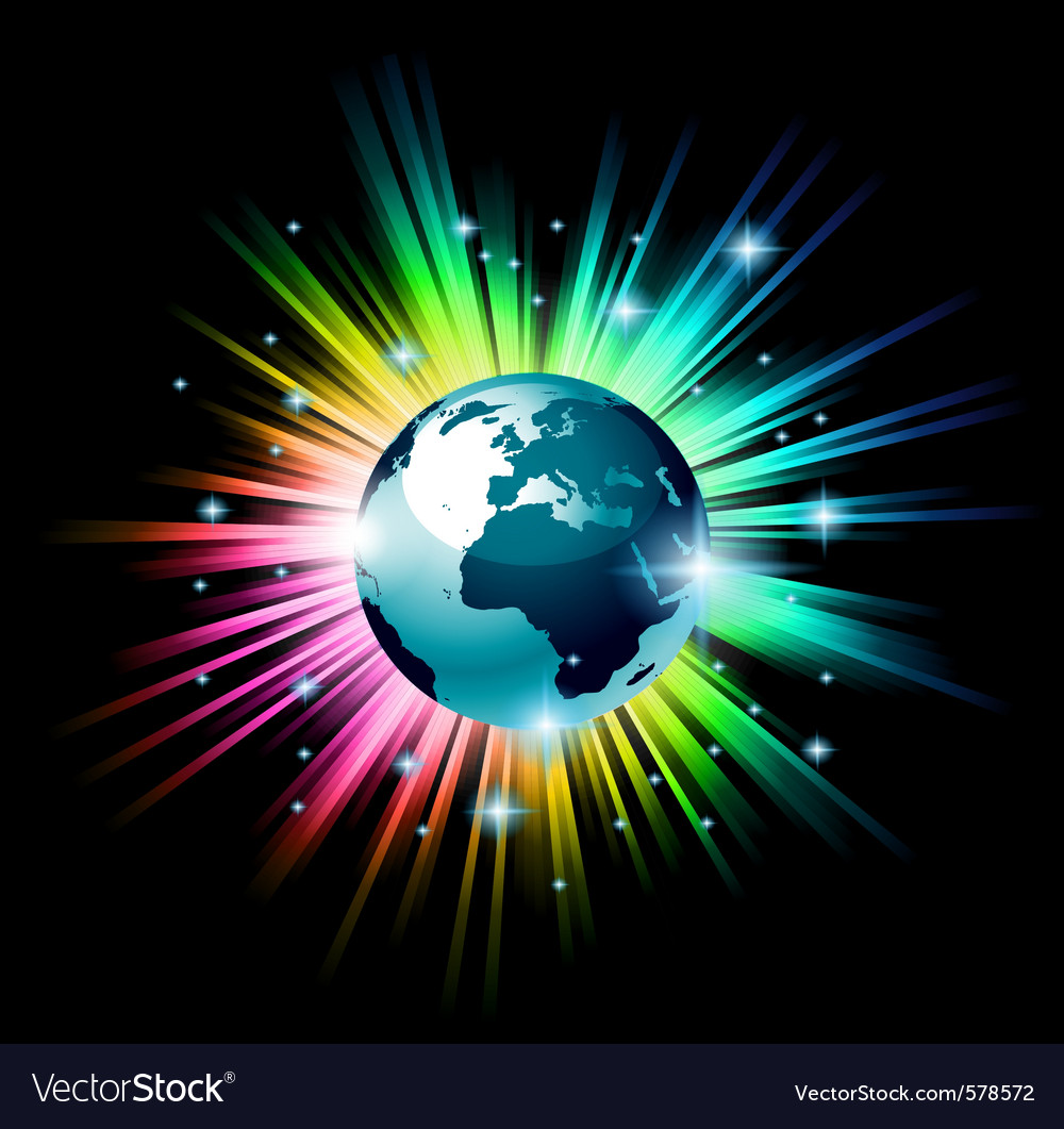 Earth globe 3d vector image