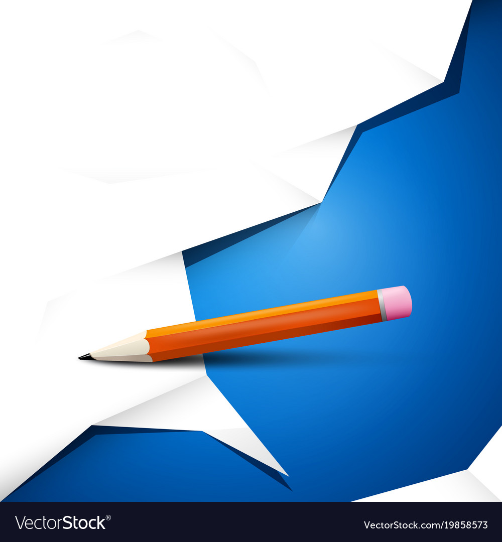 Empty white crumpled paper on blue background vector image
