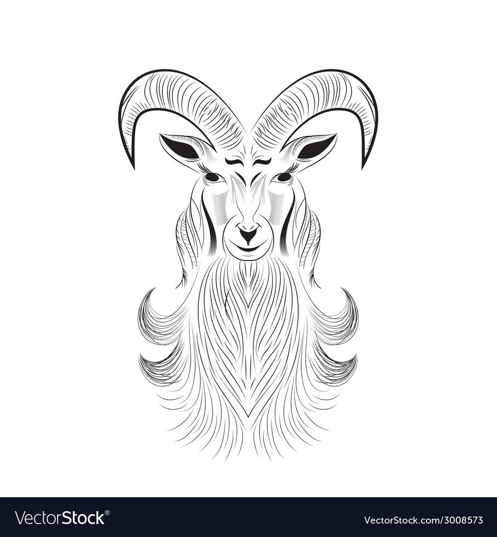 Goat tattoo vector image