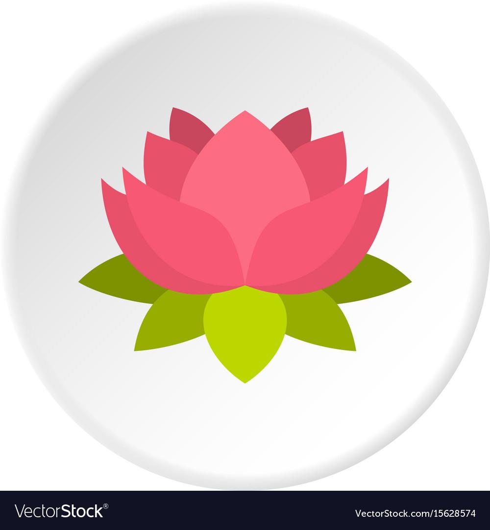 Pink lotus flower icon circle royalty free vector image pink lotus flower icon circle vector image izmirmasajfo Gallery