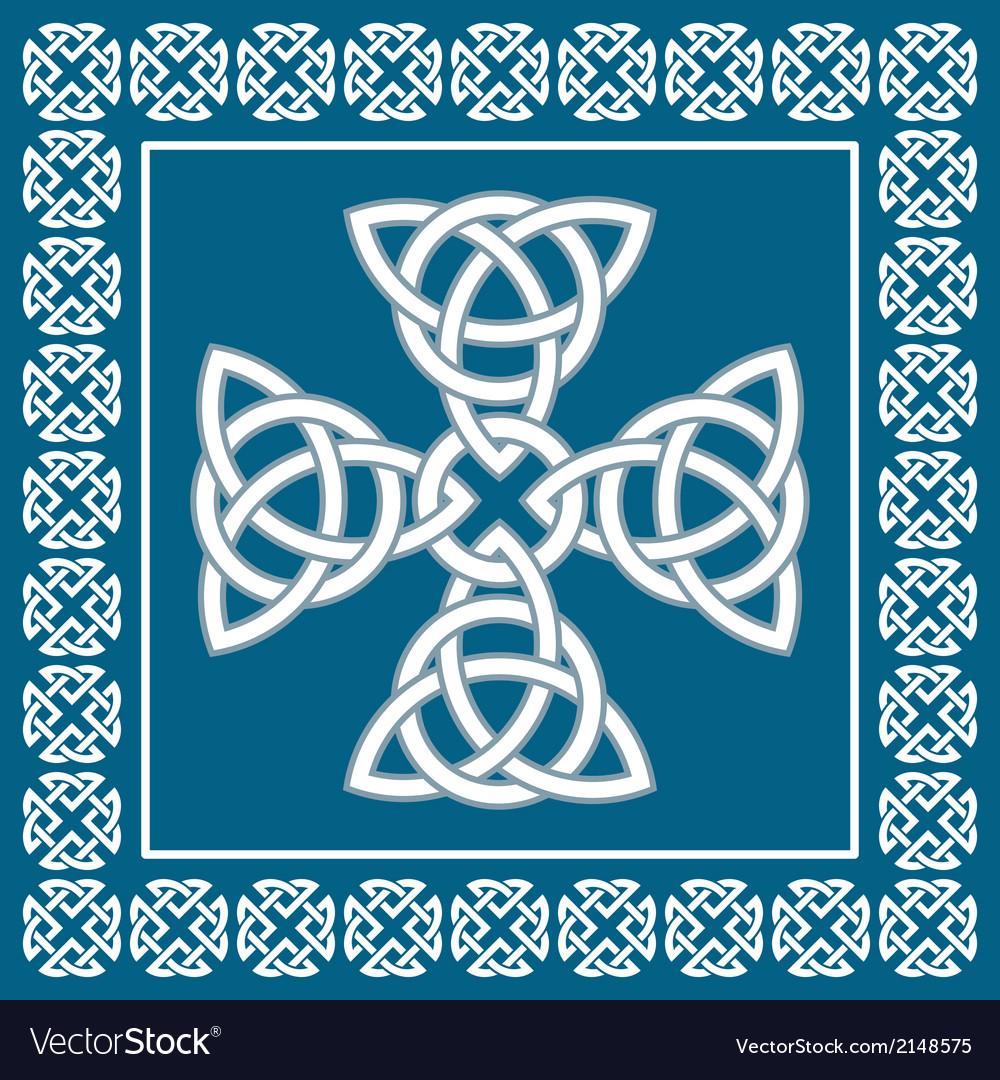Celtic cross ornament symbolizes eternity vector image