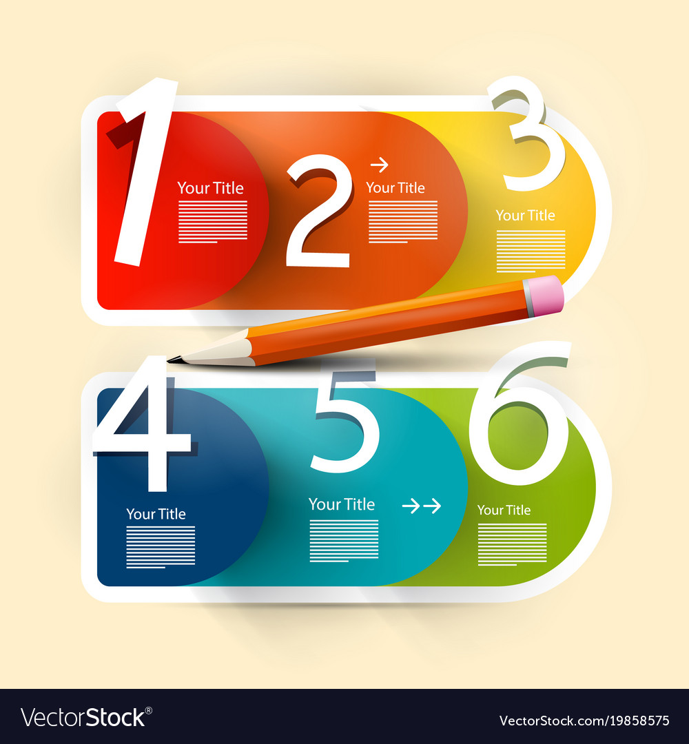 Infographic design paper infographics layout vector image