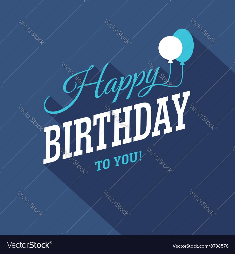 Blue Birthday Card vector image