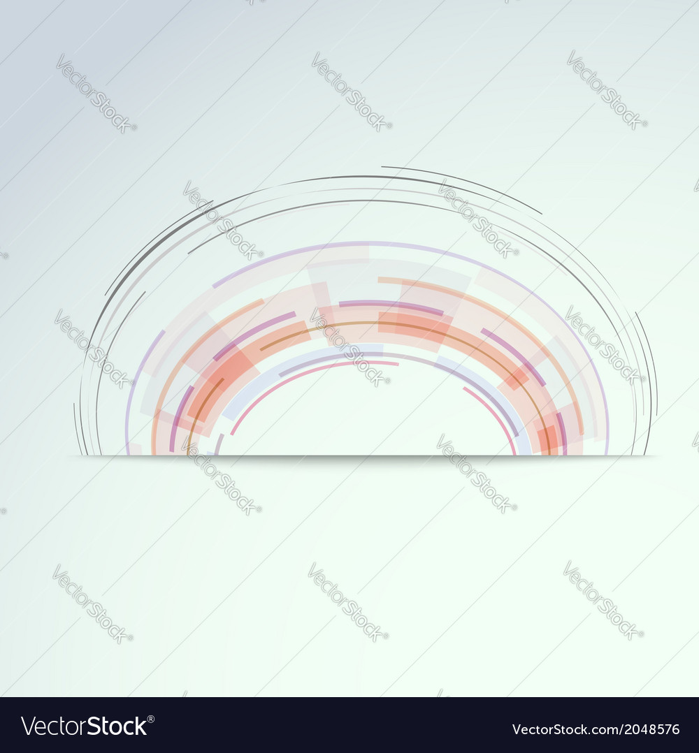 Circular concentric design element vector image