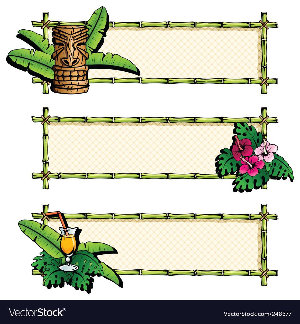 Hawaiian banners vector image