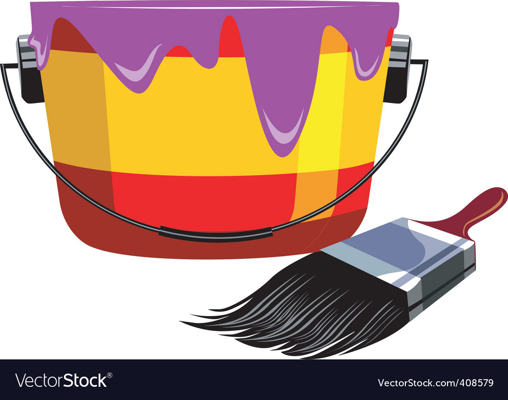 Painting brush vector image