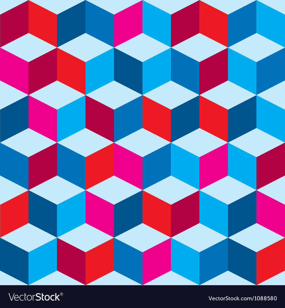 Tricolor optical background vector image