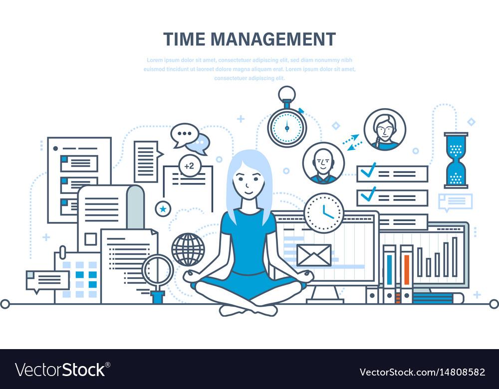 Time management workflow organization vector image