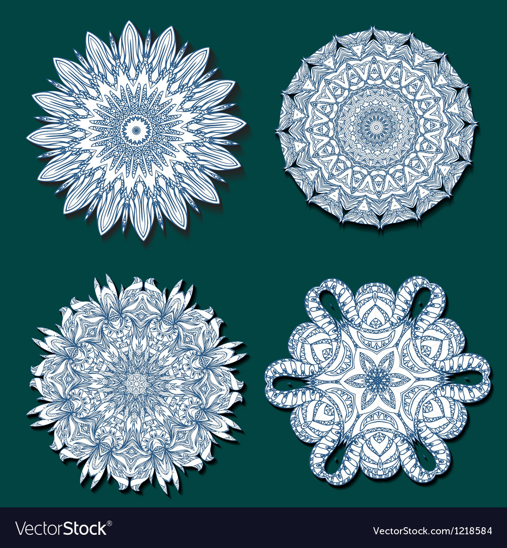 Arabesque set4 Vector Image