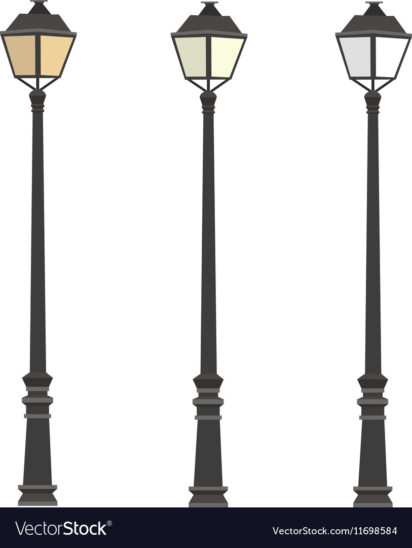 Lamppost Lanterns Street lights Lamp post Vector Image for Street Lamp Post Vector  186ref