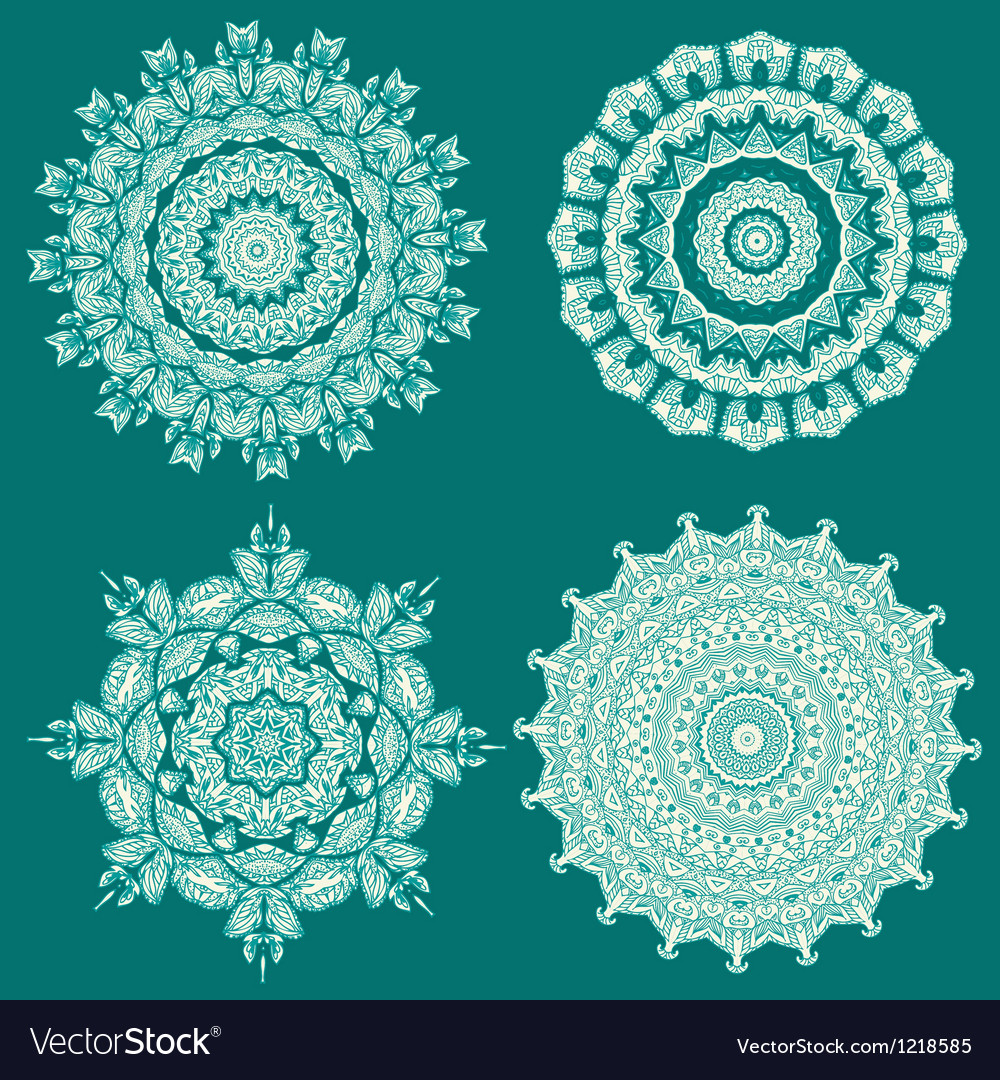 Arabesque set5 vector image