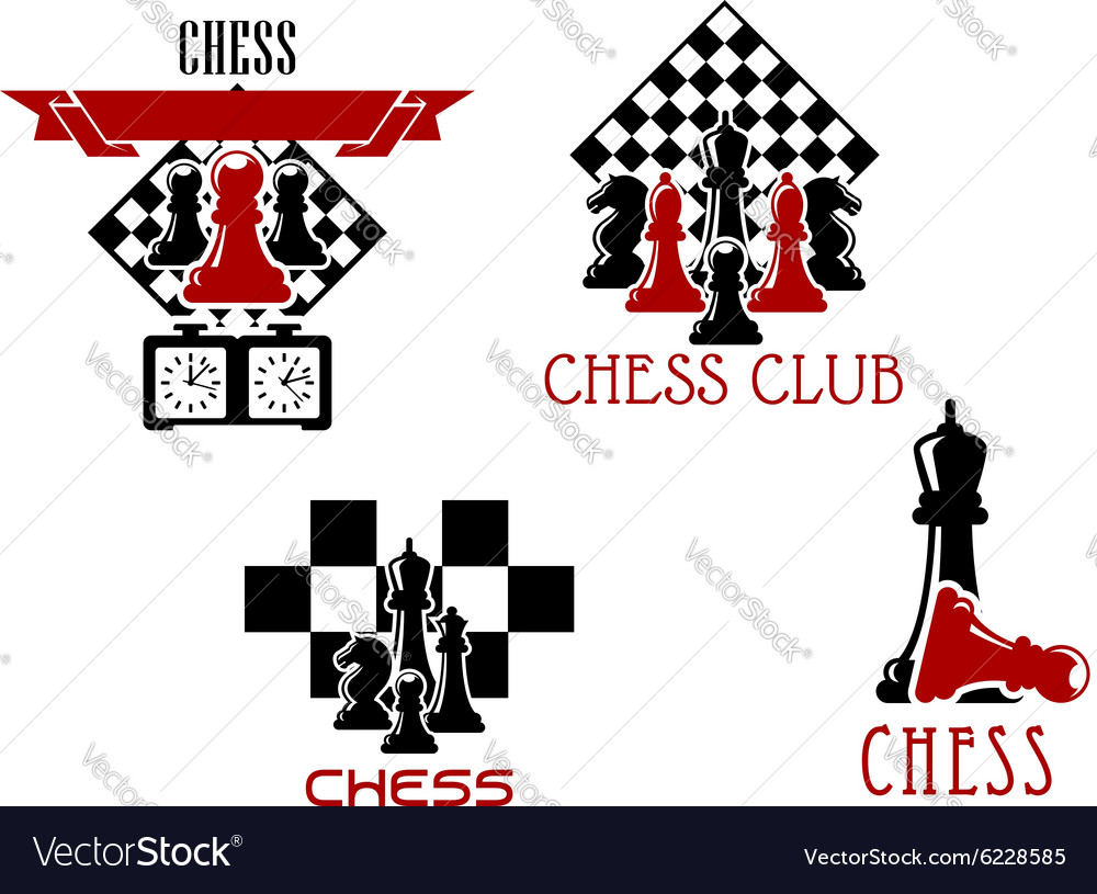 Chess club and tournament symbols royalty free vector image chess club and tournament symbols vector image biocorpaavc Gallery