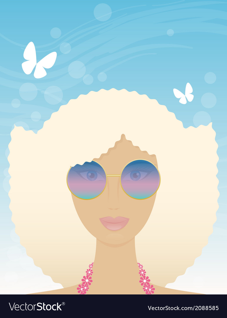 Woman in summer vector image