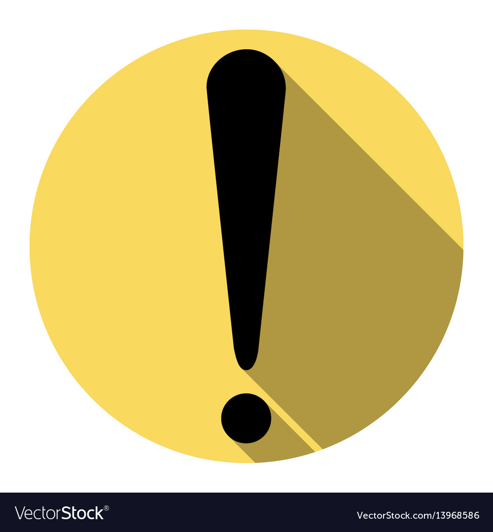 Attention sign flat black vector image