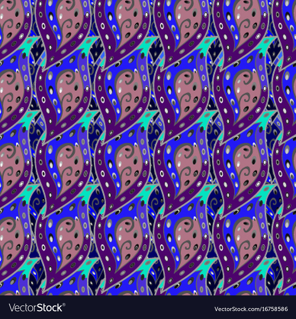 Doodle seamless pattern with ethnic pasley vector image