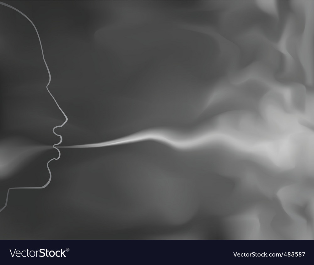 Smoker vector image