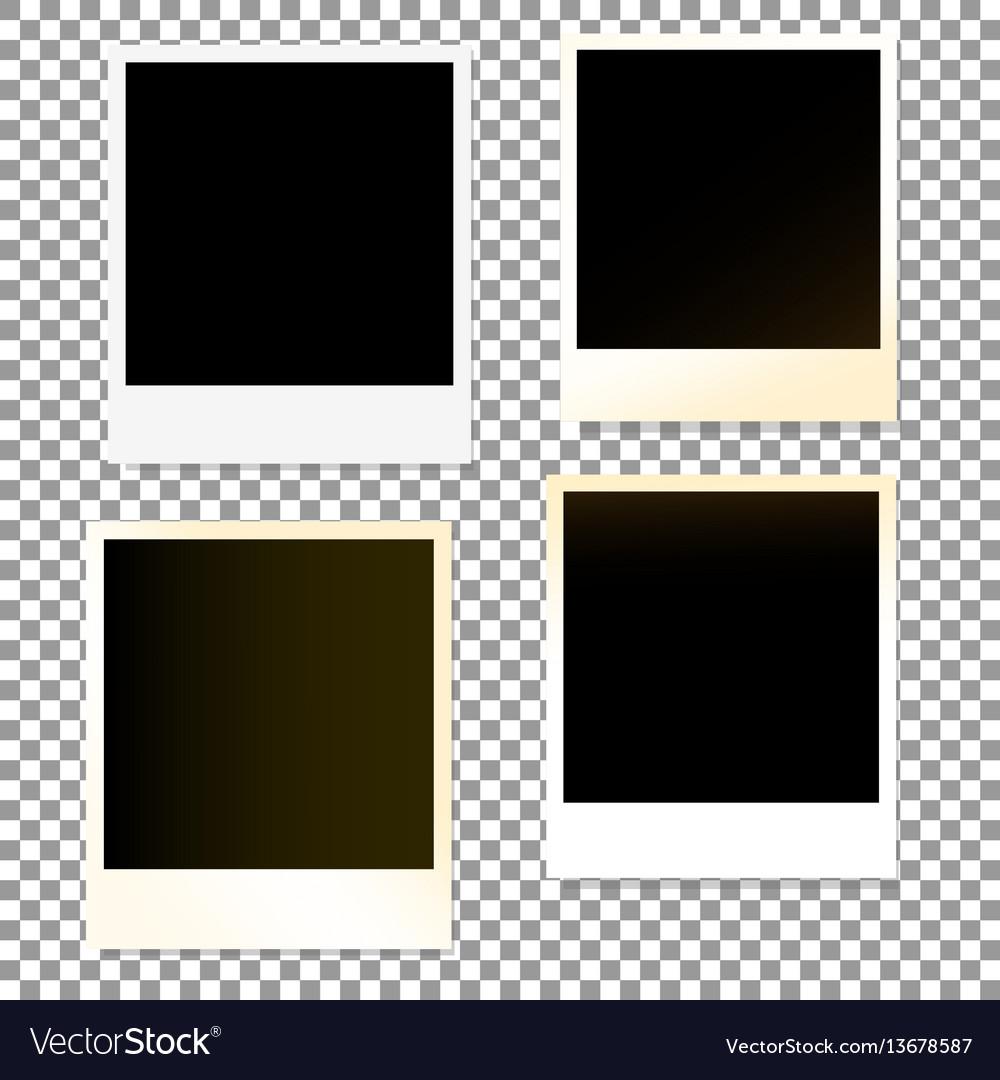 Photo frame white plastic border vector image