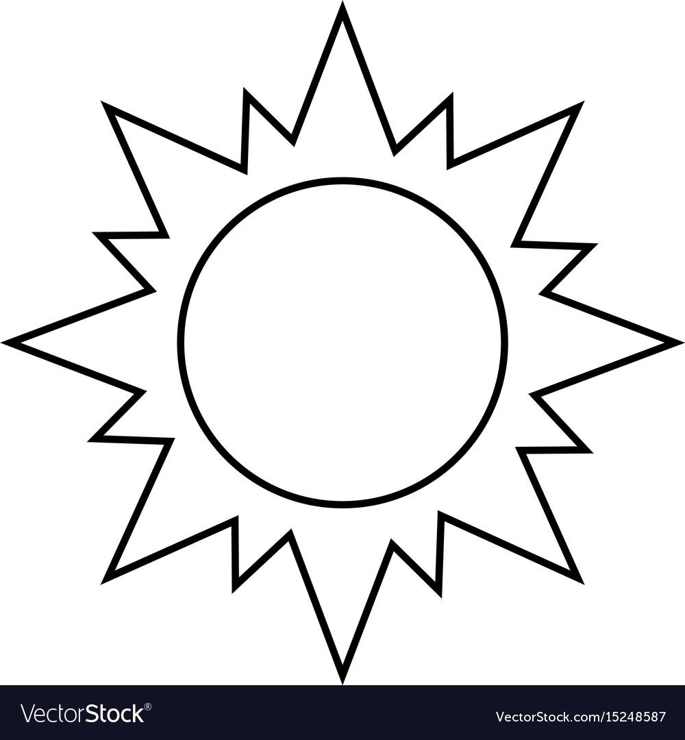 sun silhouette royalty free vector image vectorstock rh vectorstock com Boho Sun Vector Graphic Sun Vector Graphic