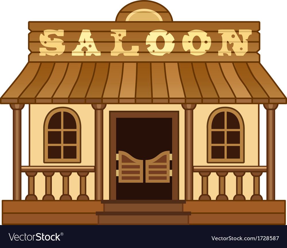 Western Saloon vector image
