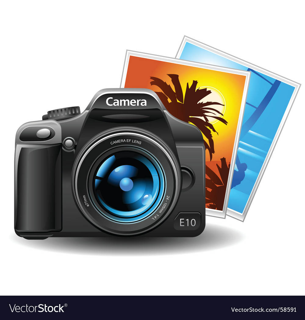Photo and camera vector image