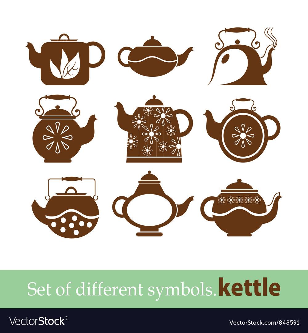 Set of symbols kettle teapot royalty free vector image set of symbols kettle teapot vector image buycottarizona