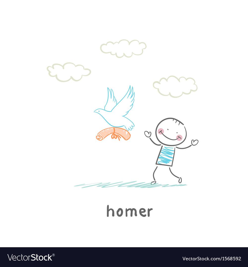 Homer vector image