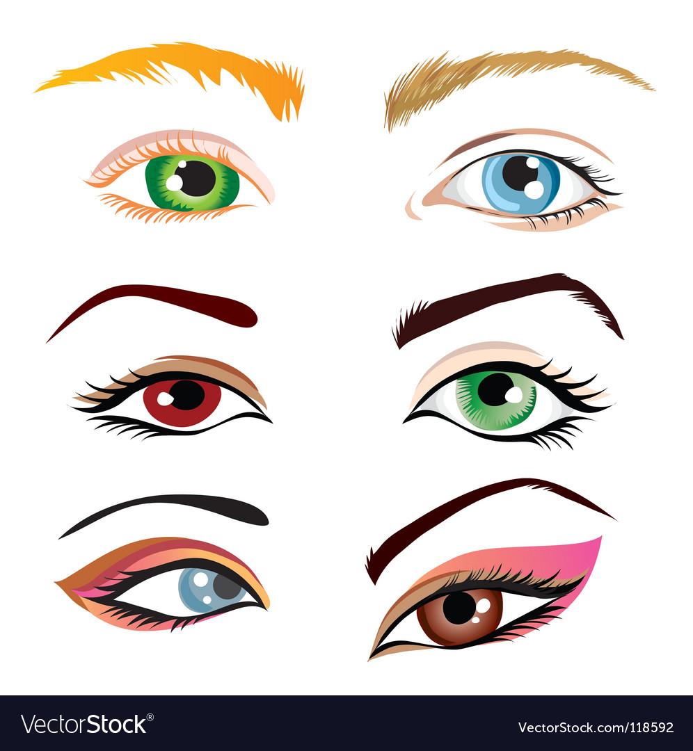 Human eyes vector image
