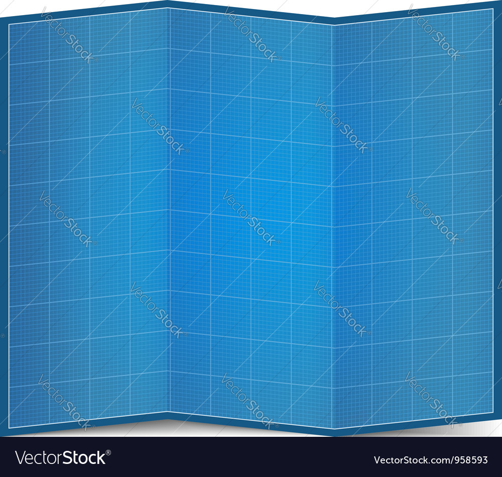 Folded blueprint paper royalty free vector image folded blueprint paper vector image malvernweather Image collections