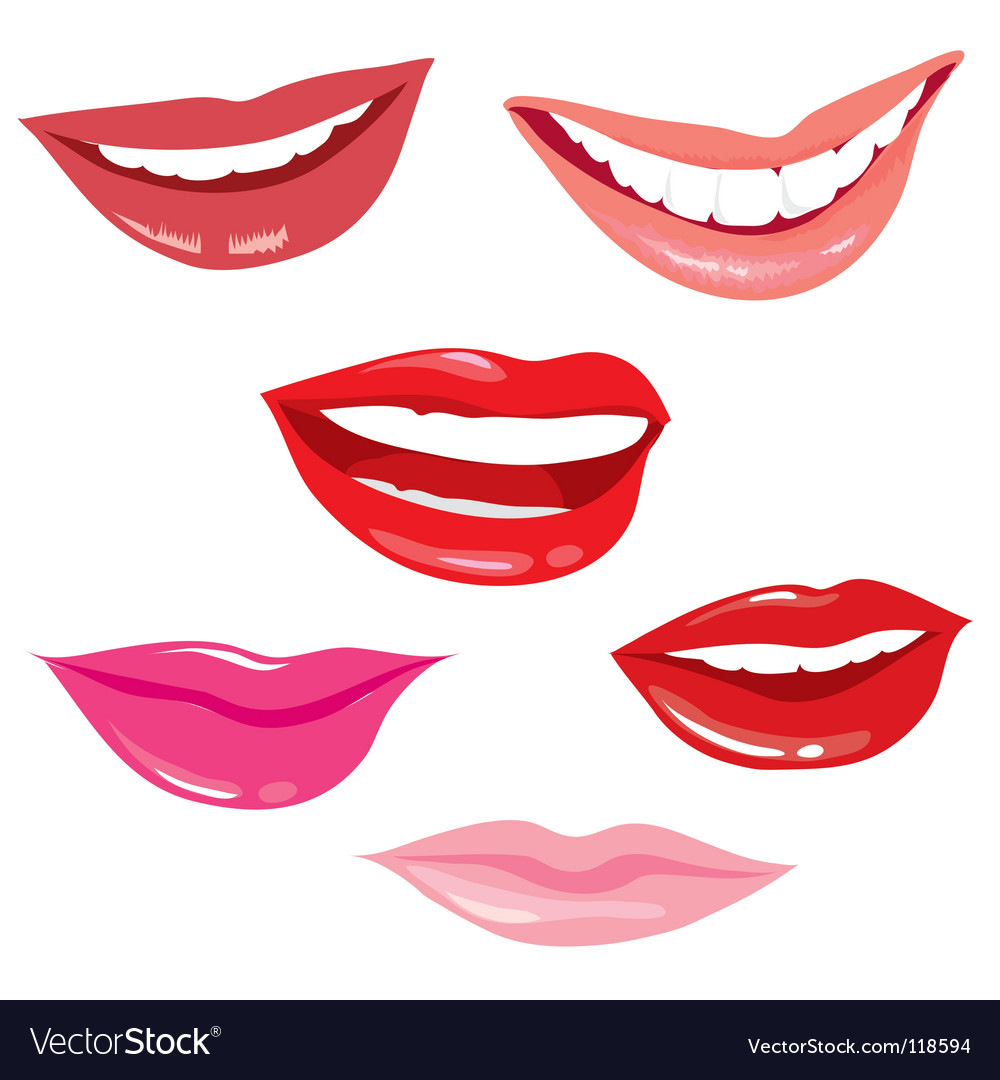 Smiling lips vector image
