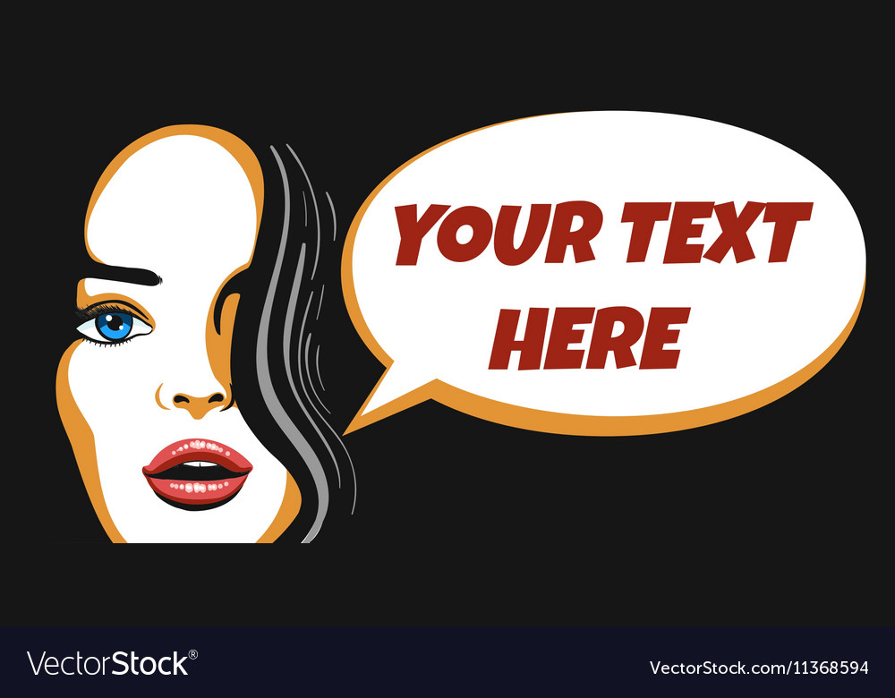 Beauty Woman Face with Speech Bubble vector image