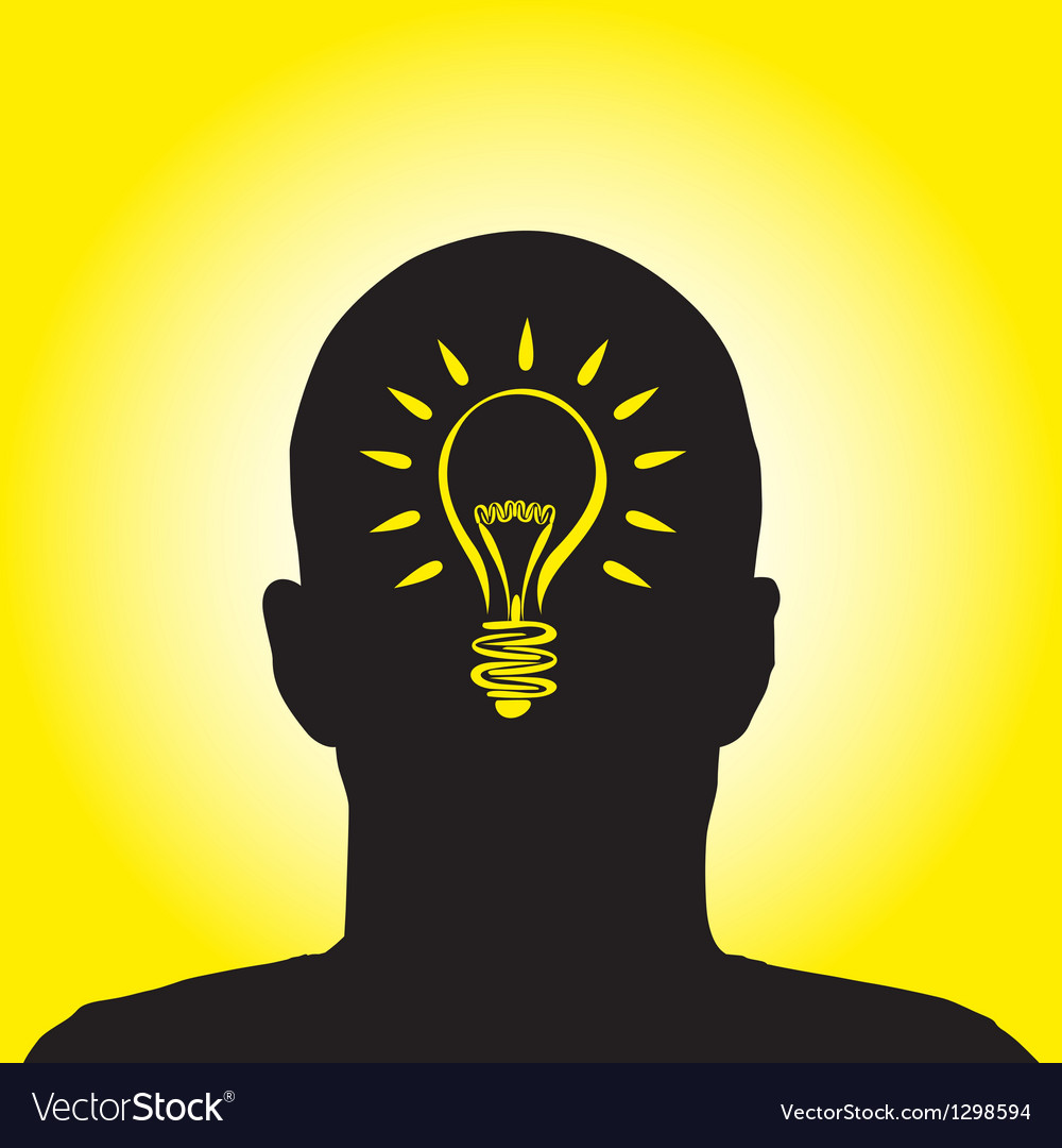 Lightbulb profile vector image