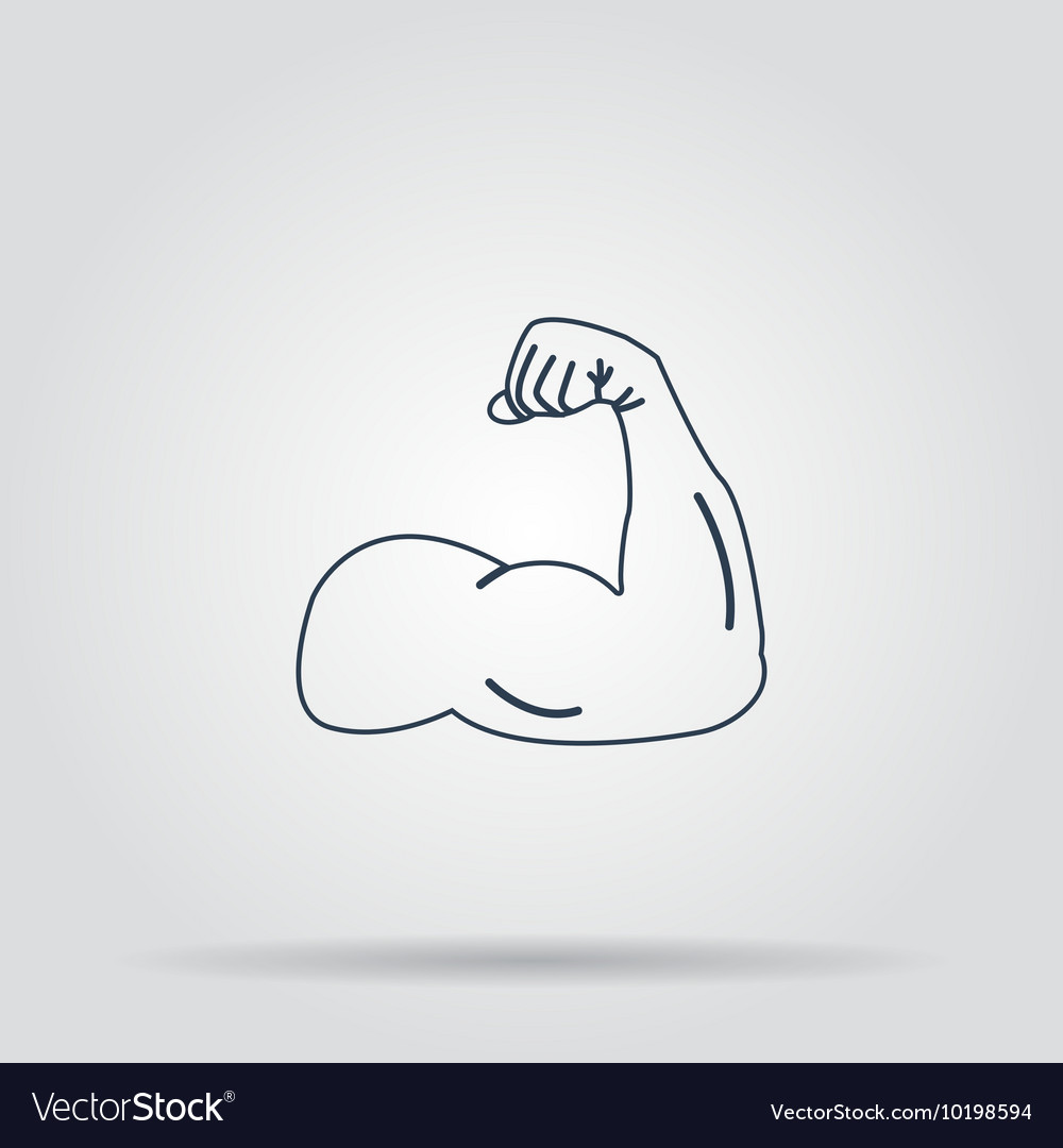 Muscle Icon concept for vector image