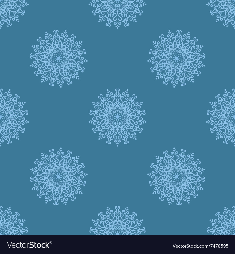 Light blue seamless pattern of openwork stars vector image