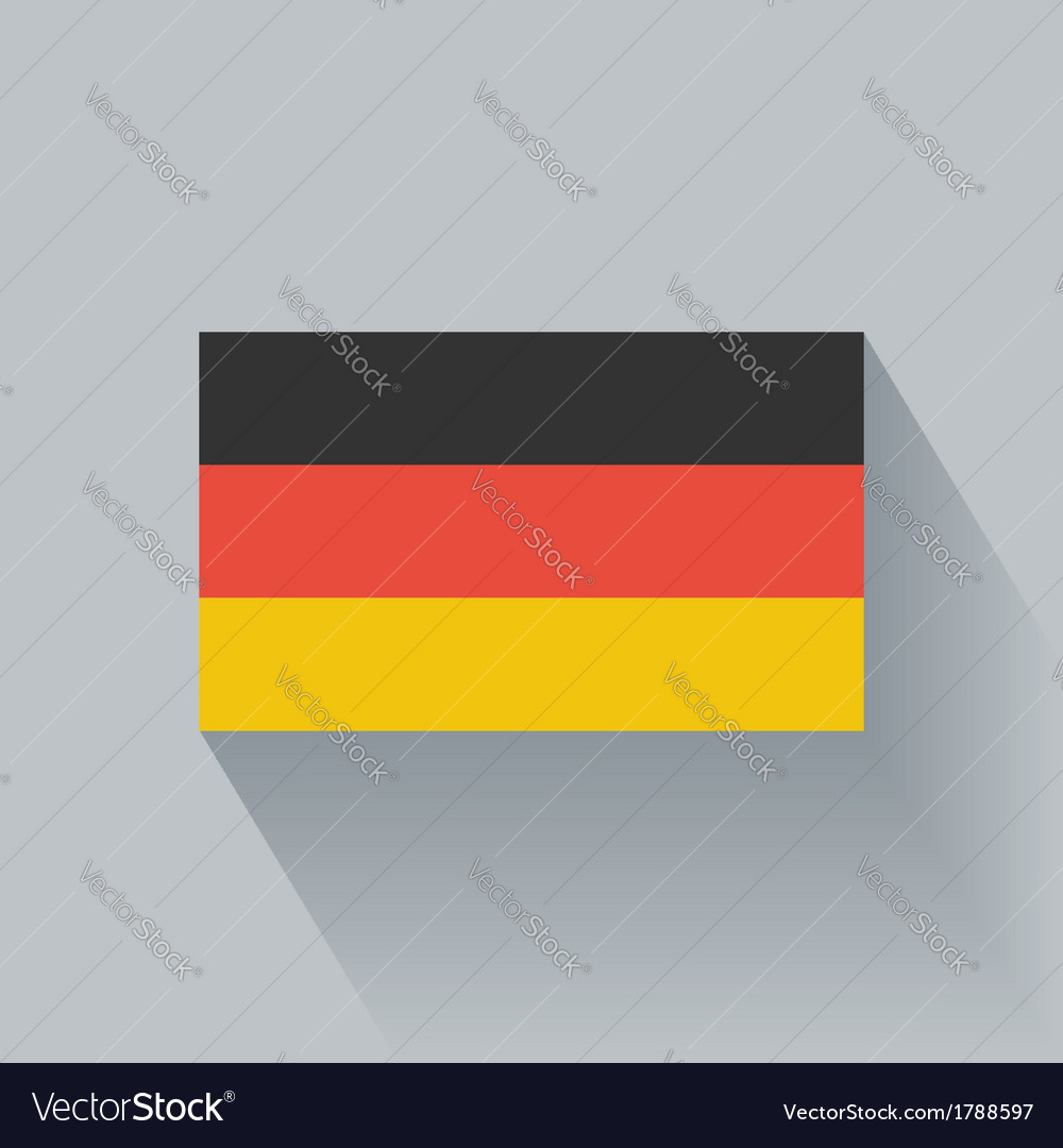 Flat flag of Germany vector image