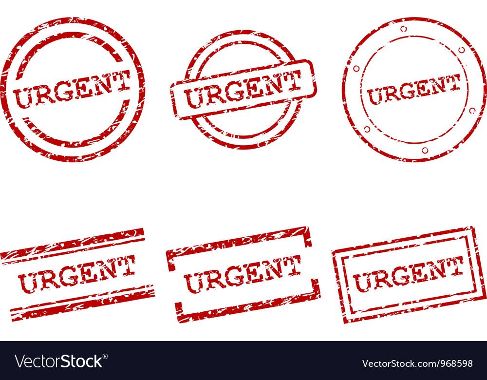 Urgent stamps vector image