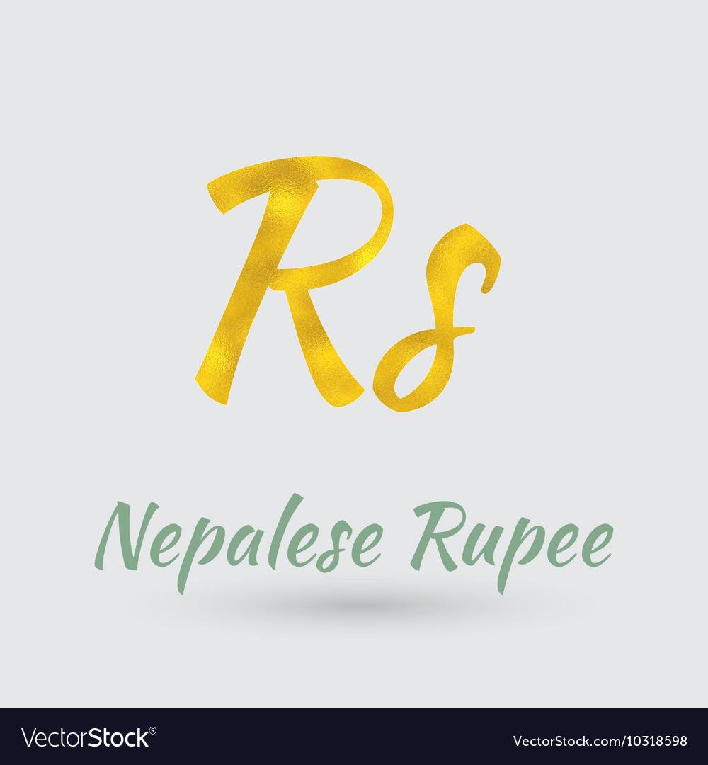 Golden nepalese rupee symbol royalty free vector image golden nepalese rupee symbol vector image biocorpaavc