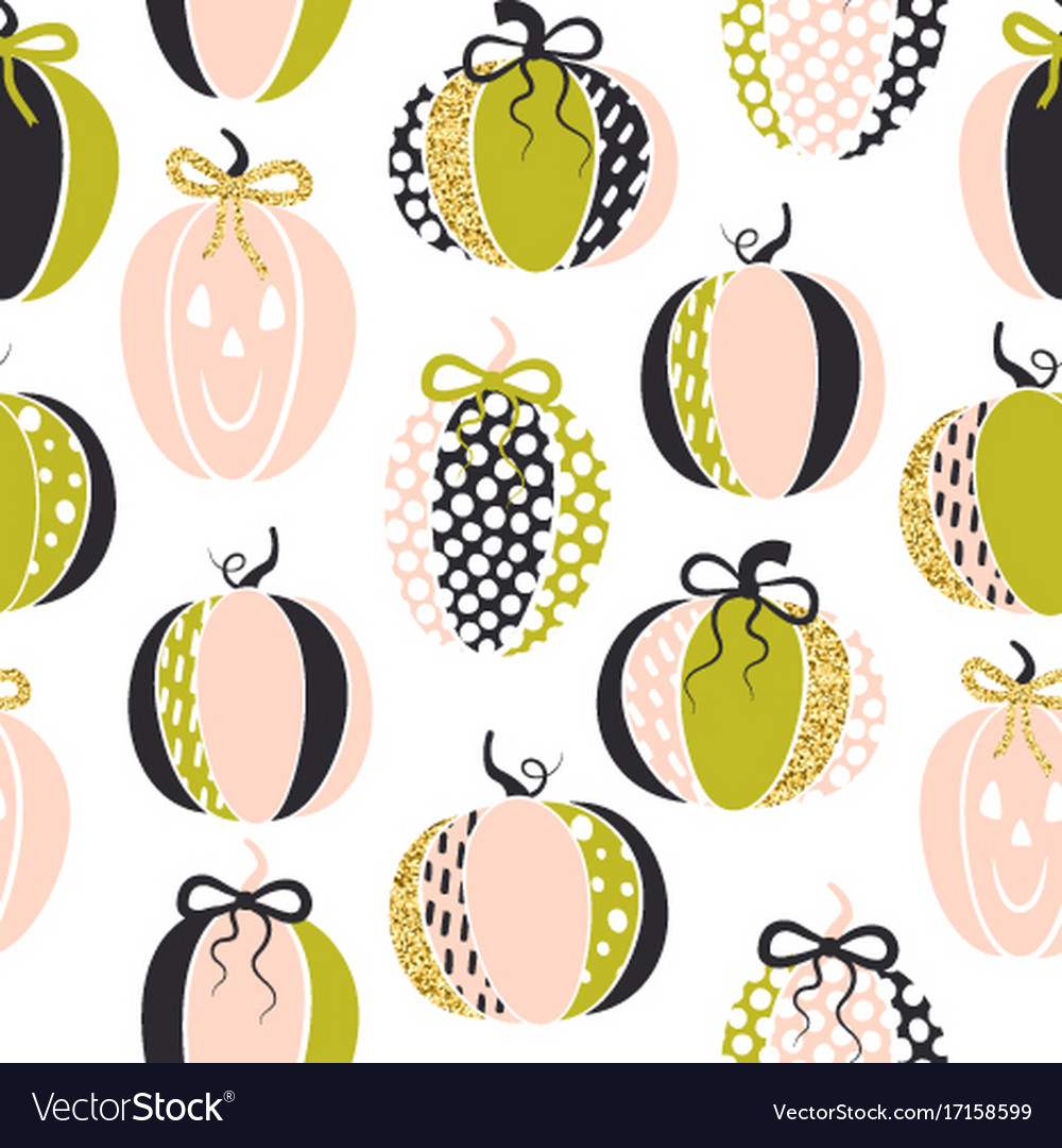 Seamless pattern with cute glamorous sparkling vector image