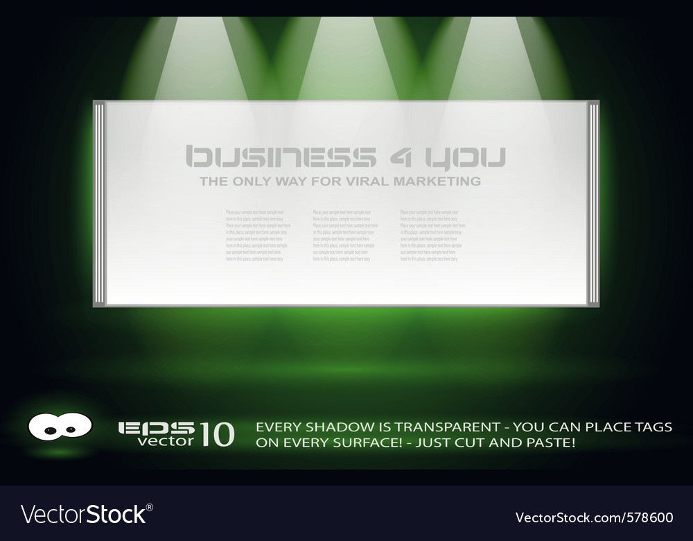 Exhibition vector image